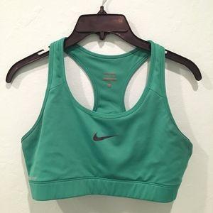 Nike Pro green sports bra size large